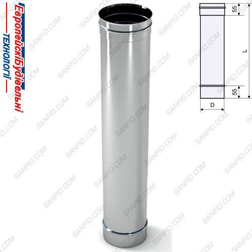 Труба для дымохода из нержавейки с утеплителем диаметр установка металлического камина на деревянный пол