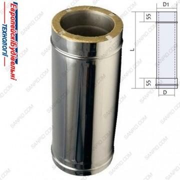 ЕвроБудТех труба-термо-минвата 180-250-1000-08